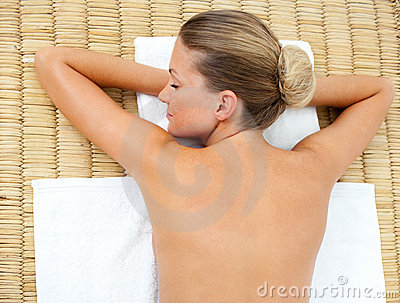 Attractive woman relaxing