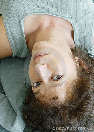 Attractive Woman Upside Down Stock Photos - Image: 32253