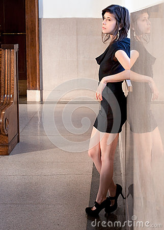 Attractive Woman Waiting