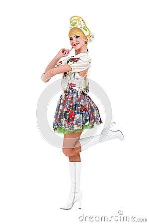 Free Attractive Woman Wearing A Folk Ukrainian Dress Royalty Free Stock Photo - 30271585