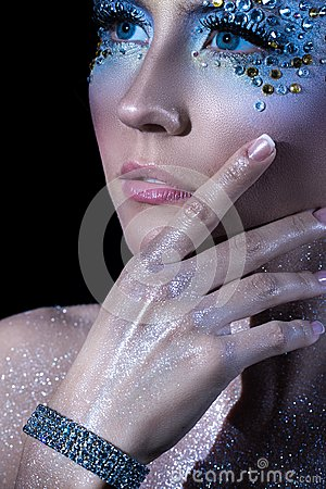 Free Attractive Woman With Artistic Make-up Stock Image - 41525261