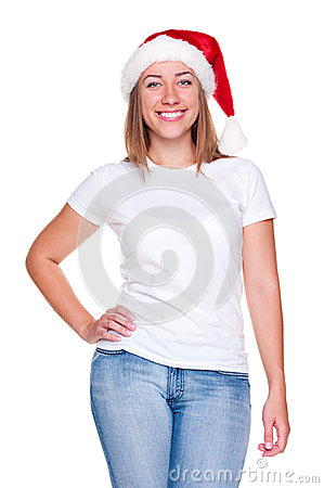 Attractive xmas woman
