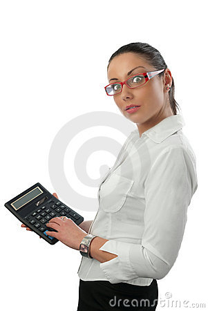 Free Attractive Young Accountant Royalty Free Stock Photo - 13190955