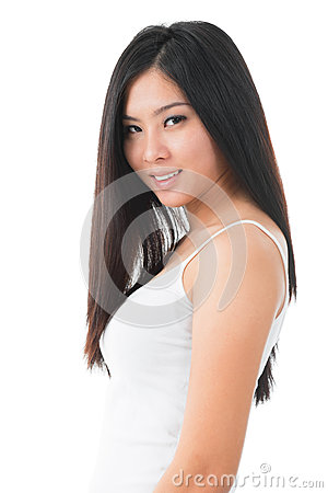 Attractive young Asian girl
