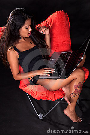 Attractive young asian pacific islander woman