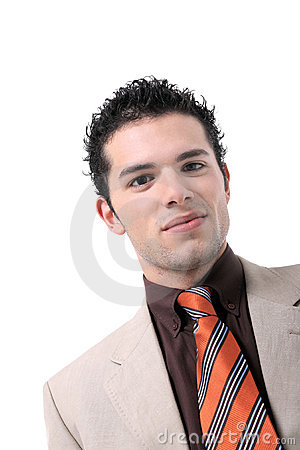 Attractive young business man portrait