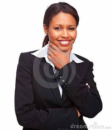 Attractive young business woman smiling