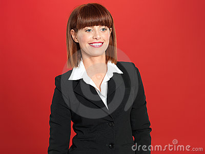Attractive, Young Businesswoman , Smiling Stock Image - Image: 24241271