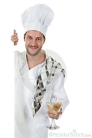 Free Attractive Young Caucasian Man Chef, Glasses Stock Image - 17343501