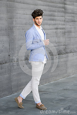 Free Attractive Young Handsome Man, Model Of Fashion In Urban Backgro Royalty Free Stock Photography - 49942507