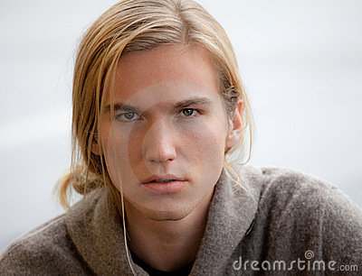 Attractive Young Man With Long Hair