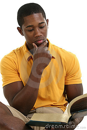 Free Attractive Young Man Reading Book Stock Image - 198811