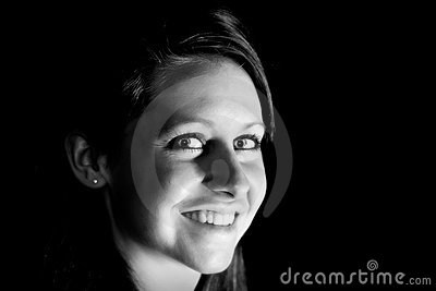 Attractive Young Woman (BW)
