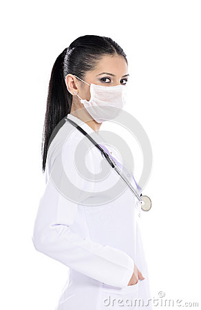 Attractive young woman doctor