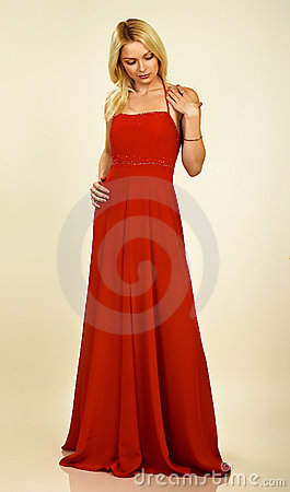 Free Attractive Young Woman In Evening Dress. Stock Photography - 377292