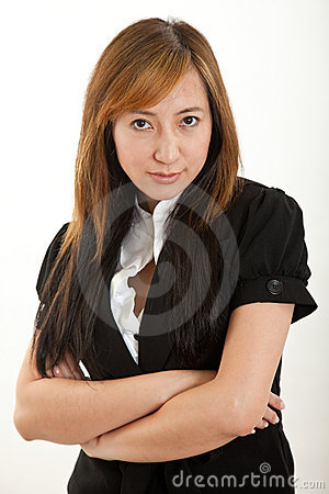 Attraktiv kinesisk fortieskvinna