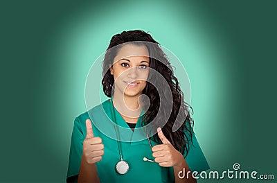 Attraktiv läkarundersökning med en röntgenfotografering