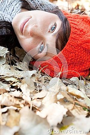 Atumn fall woman