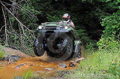ATV in creek