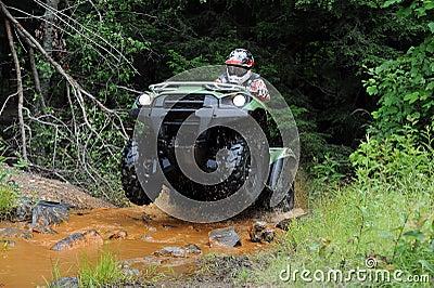 ATV in creek