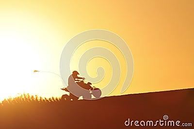 ATV in the Golden light