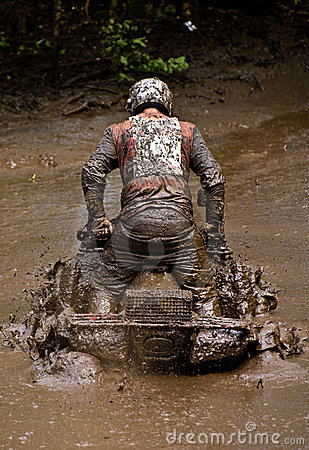 ATV in the mud