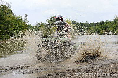 ATV in mudhole