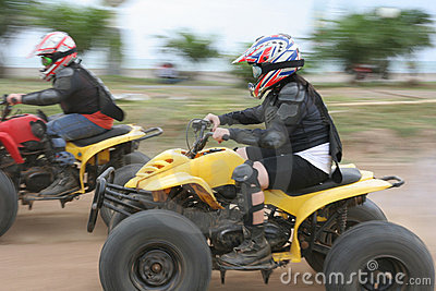 Atv or quad bike racing