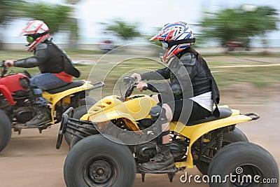 Atv or quad bike racing