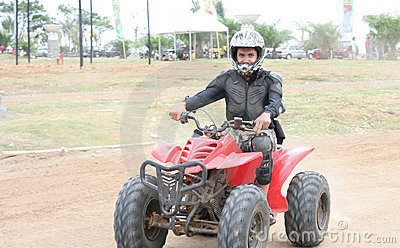 Atv or quad bike vehicle racer