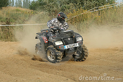 ATV quad race Editorial Stock Photo