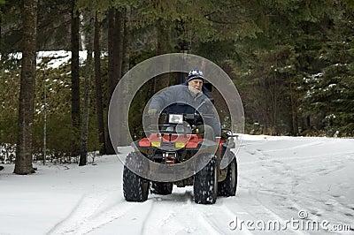 ATV quad senior rider