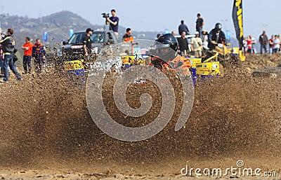ATV Rennen Redaktionelles Stockfoto