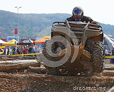 ATV Rennen Redaktionelles Stockbild