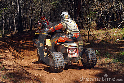 ATV woods racing