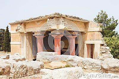 Außengebäude von Knossos