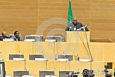 AU pays tribute to Ato Meles Zenawi Editorial Photography