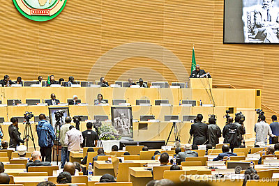 AU pays tribute to Ato Meles Zenawi Editorial Photo