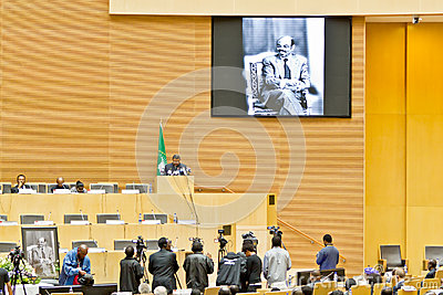 AU pays tribute to Ato Meles Zenawi Editorial Photography