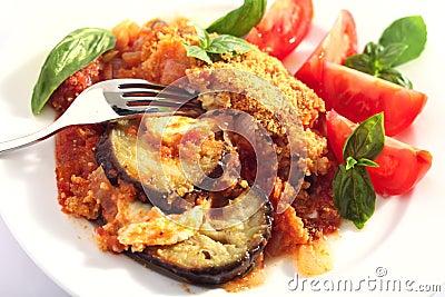 Aubergine or eggplant bake