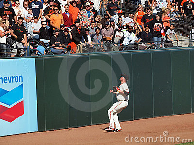 Aubrey Huff Watches a home run fly over his head Editorial Stock Image