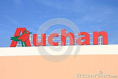 Auchan Editorial Stock Photo