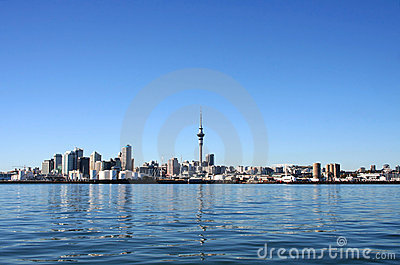 Auckland City, New Zealand by day