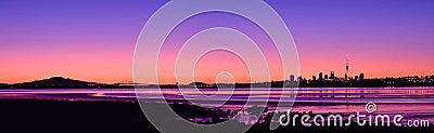Auckland City Sunrise Panorama 2