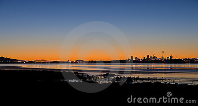 Auckland City Sunrise Panorama