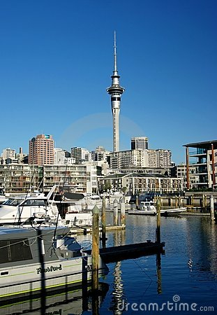 Auckland City Waterfront Editorial Stock Image