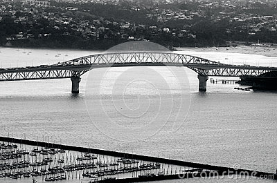 Auckland harbor bridge in Auckland New Zealand NZ Editorial Photography