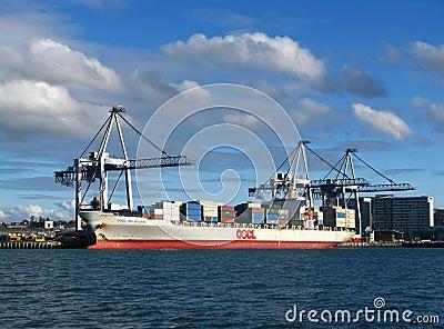 Auckland miasta portu nabrzeże Fotografia Editorial