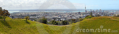 Auckland Panorama from Mount Eden, New Zealand