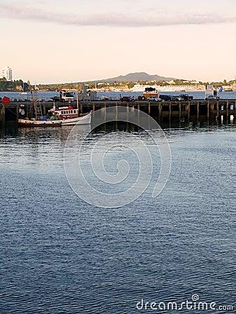 Auckland: Viaduct Basin wharf